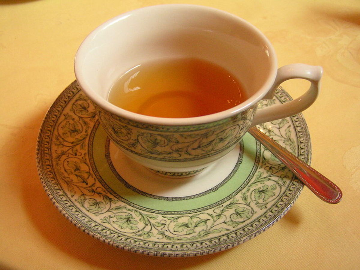 It's best to stop drinking any liquids, even a relaxing cup of herbal tea, a few hours before bed to make sure you don't break you sleep by having to get up to go to the bathroom in the middle of the night
