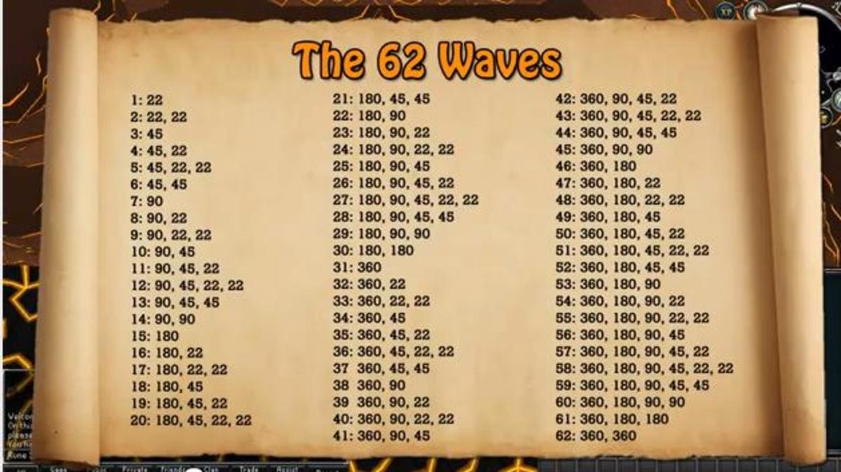 The 62 waves you'll face before Jad.