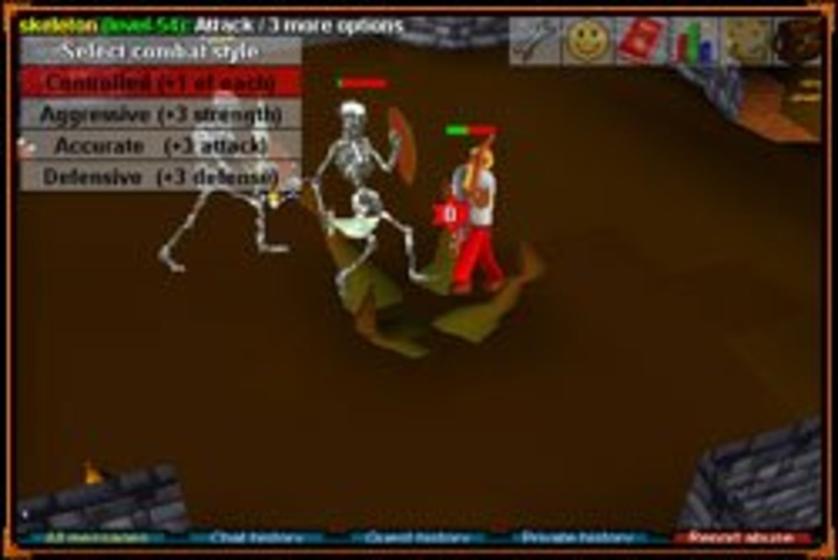 A screenshot of RuneScape Classic.