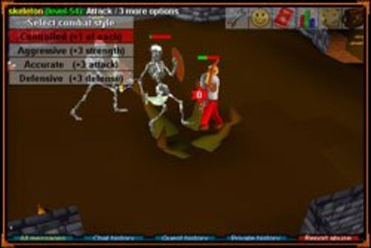 A screenshot of RuneScape Classic.
