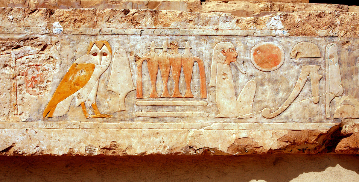 This depiction is found within the mortuary of Hatshepsut.