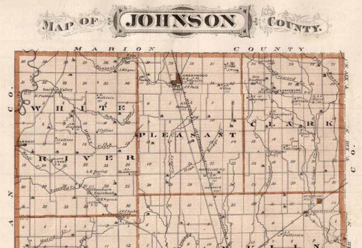 Northern tier of townships - Johnson County, Indiana