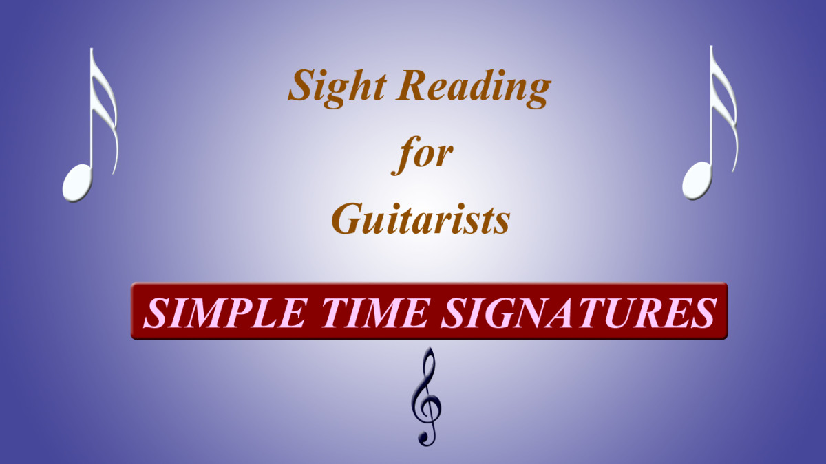 Sight reading for guitarists - simple time signatures
