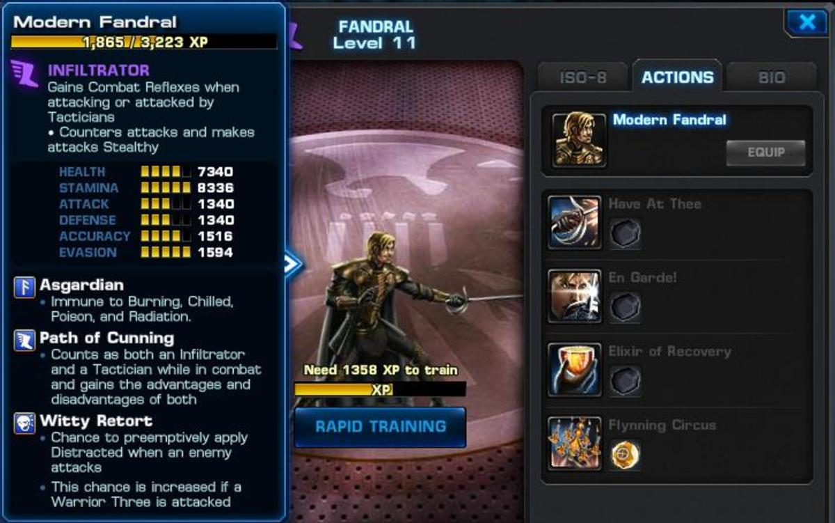 Strategy Guide for Fandral in Marvel: Avengers Alliance