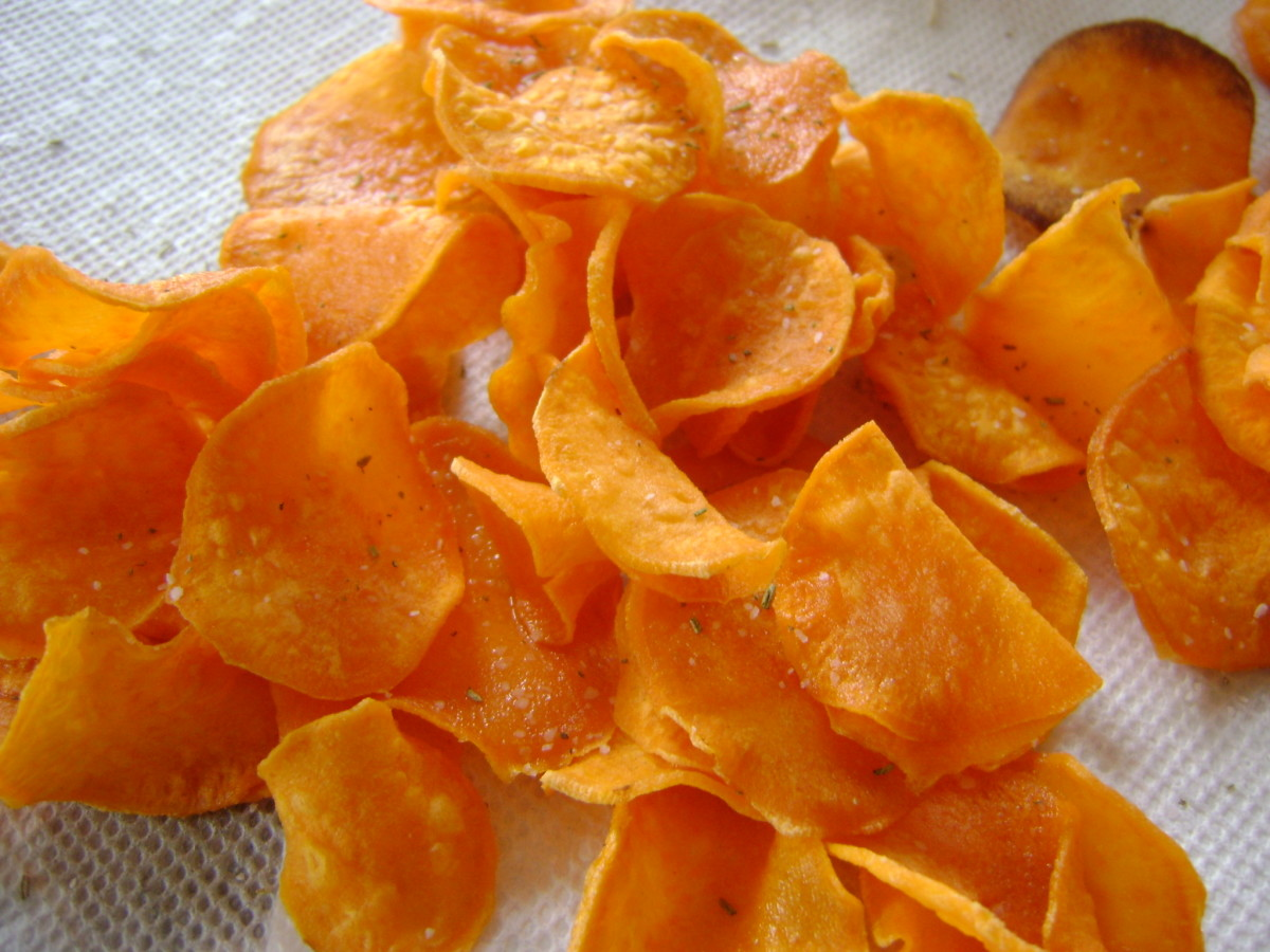 How to Make Crispy Sweet-Potato Chips With Rosemary