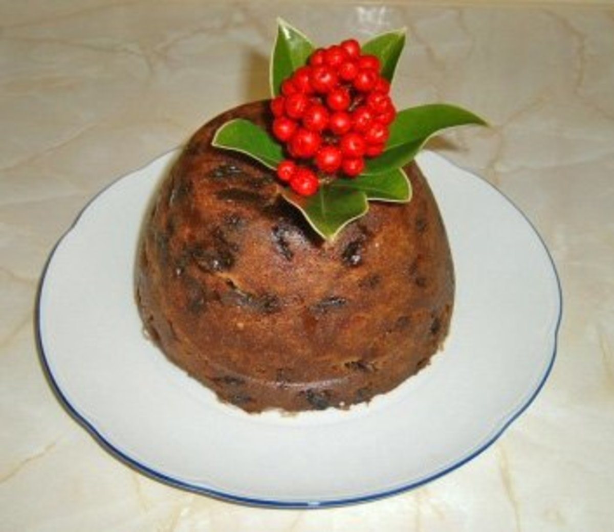 Christmas Pudding, a.k.a. Figgy Pudding, is an age-old holiday tradition in the UK.