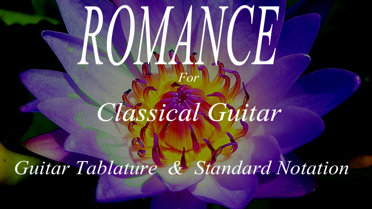Romance (Romanza): Classical Guitar Arrangement in Guitar Tab and Standard Notation