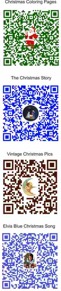 Scan the QR codes above.  Each when placed on your Christmas Card will bring it to life.