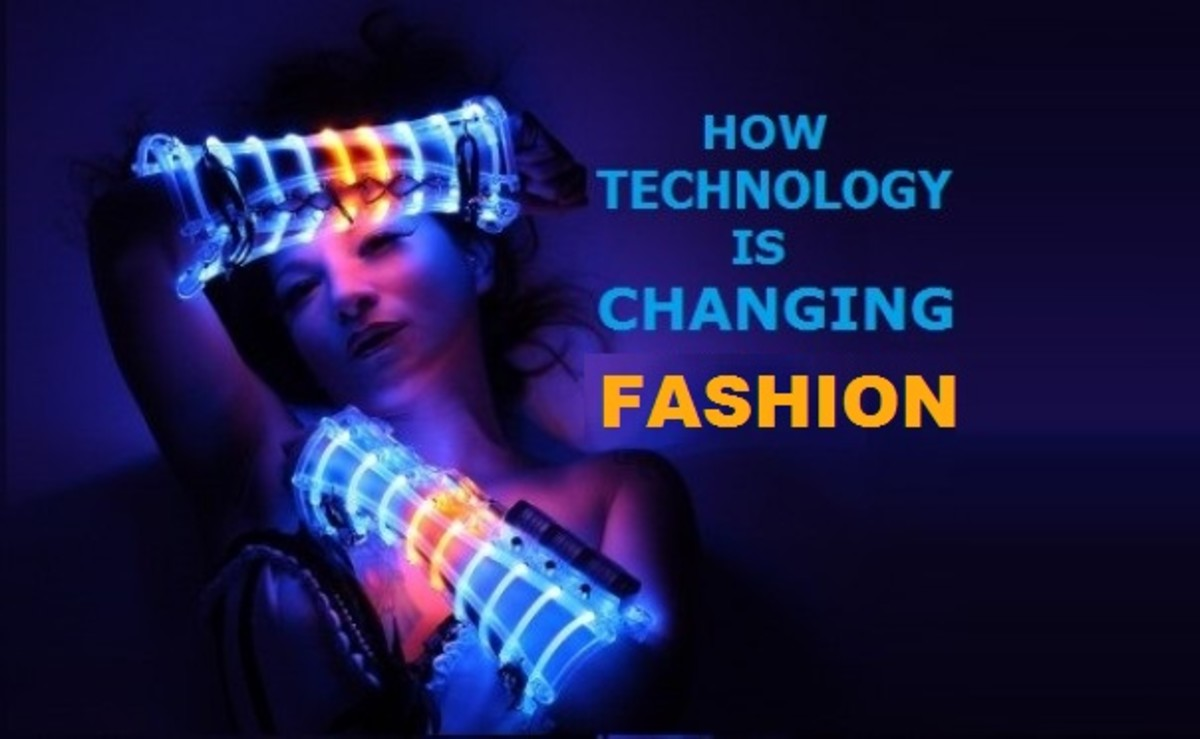 Wearable LEDs light this fashion shoot.