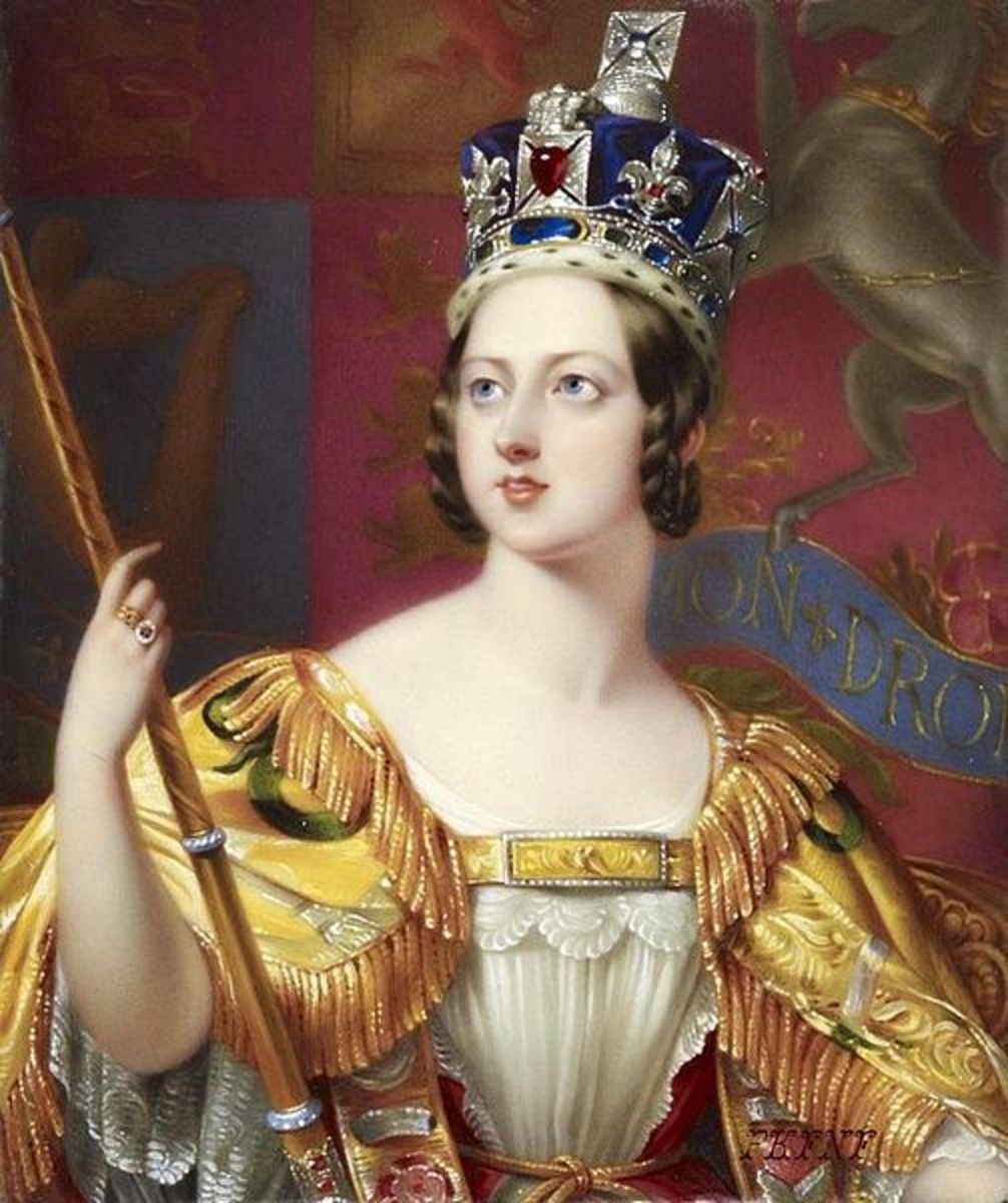Victoria at her Coronation