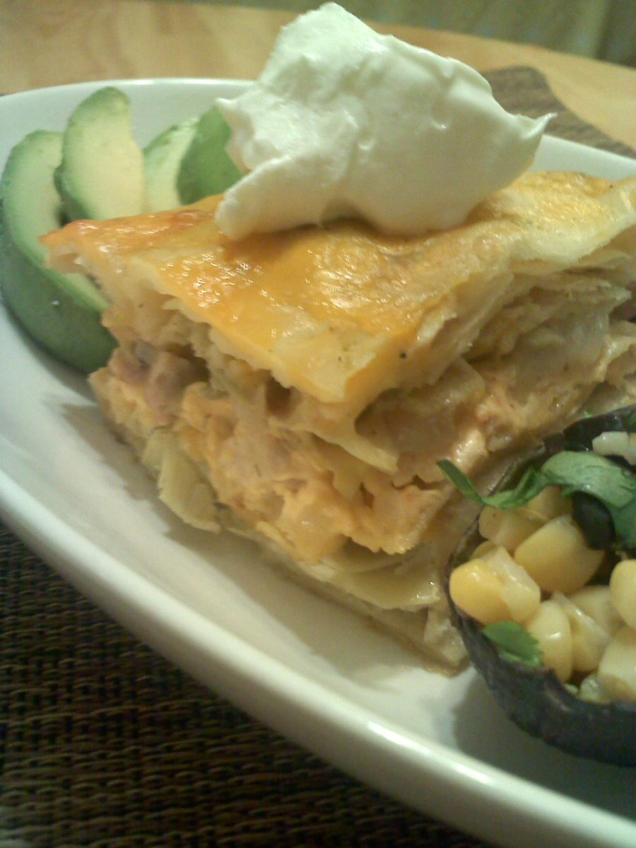 Chicken Enchilada Artichoke Casserole Recipe