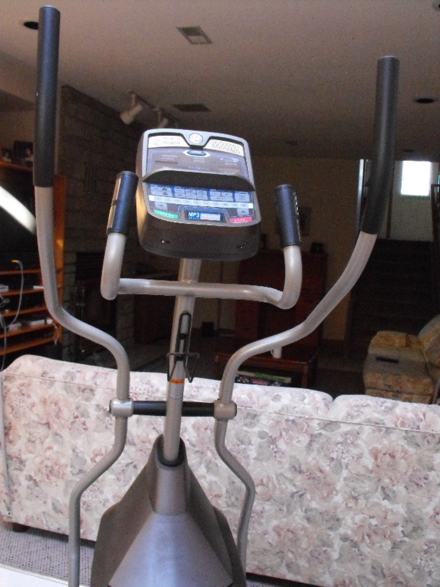 I run on my elliptical trainer and watch TV.
