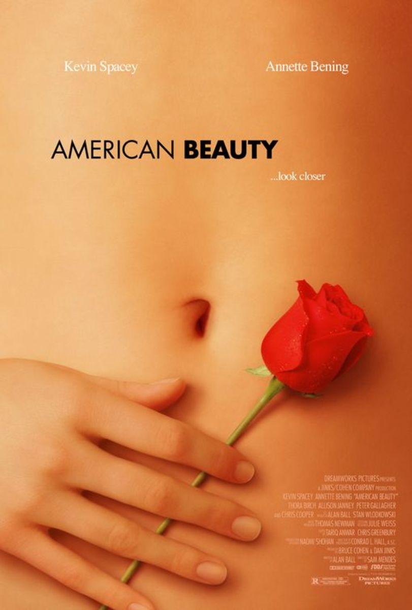 The iconic poster featuring one of the roses that serve as a motif image throughout the film.