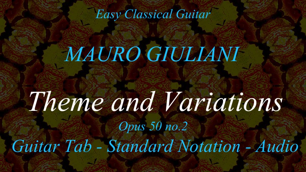 """Opus 50 No.2 """"Grazioso"""" by Mauro Giuliani in Guitar Tab and Standard Notation"""