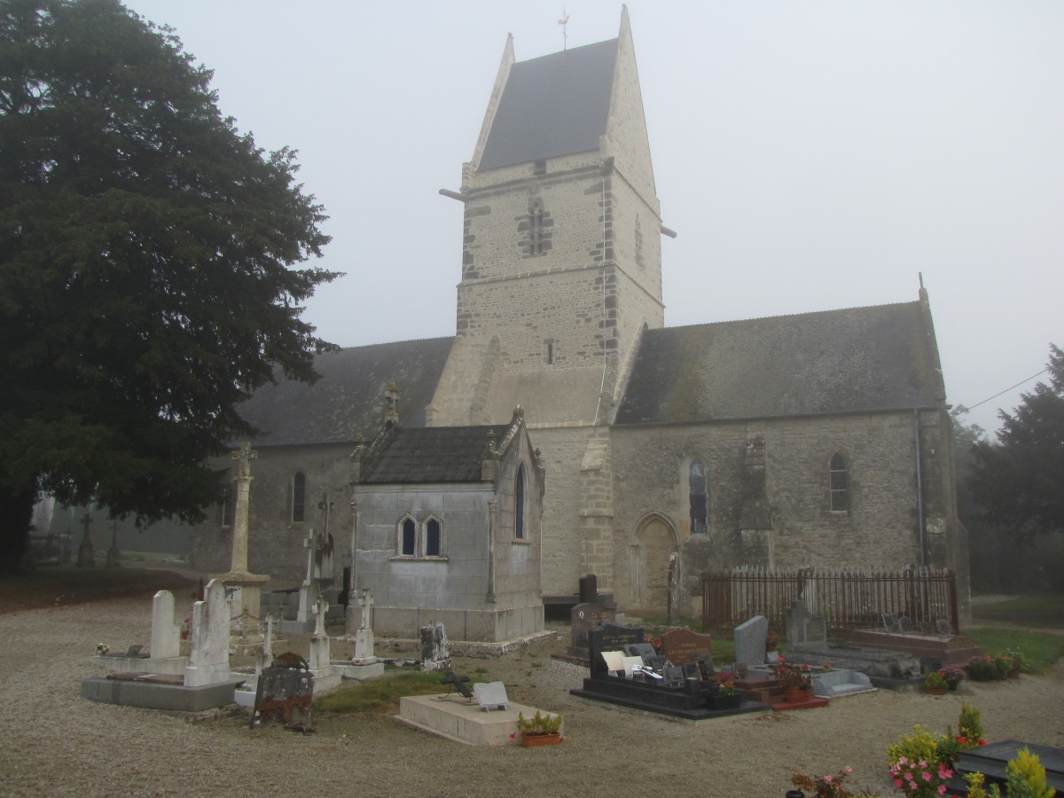 The 12th century church in Angoville-au-Plain