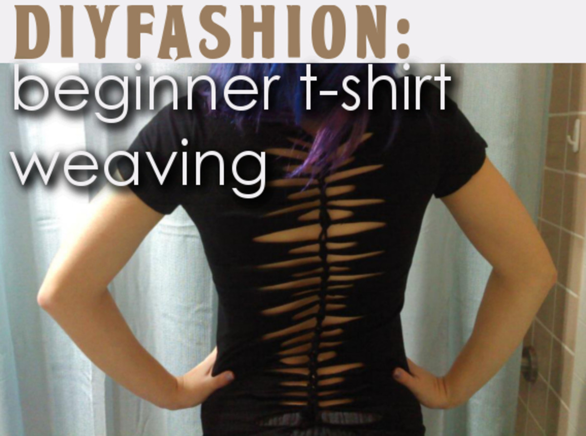 Learn how to weave your T-shirts into striking patterns.