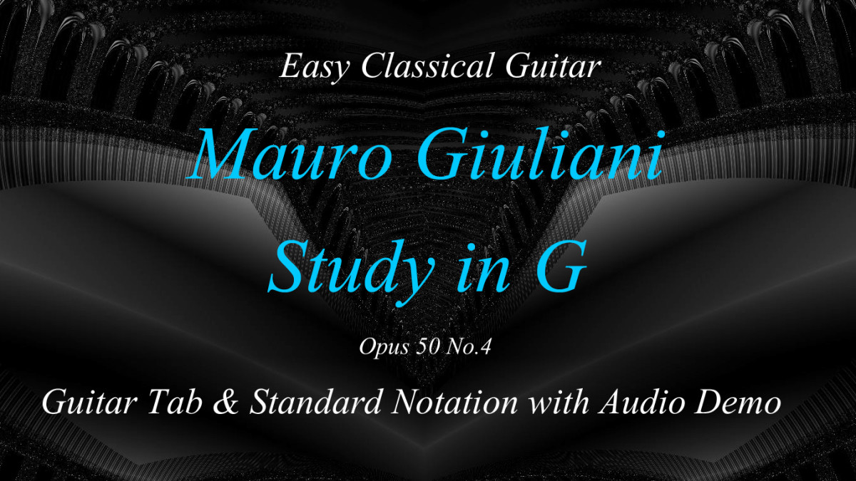 Giuliani - Classical Guitar study opus 50 no. 4 in guitar tab, standard notation and audio