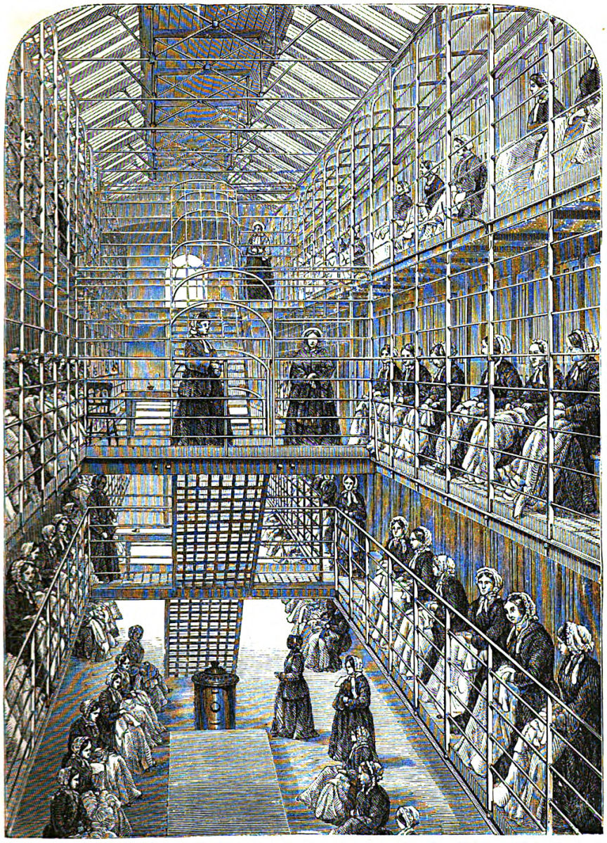 1862 Brixton prison London: Women learning sewing skills as an alternative to hard labour