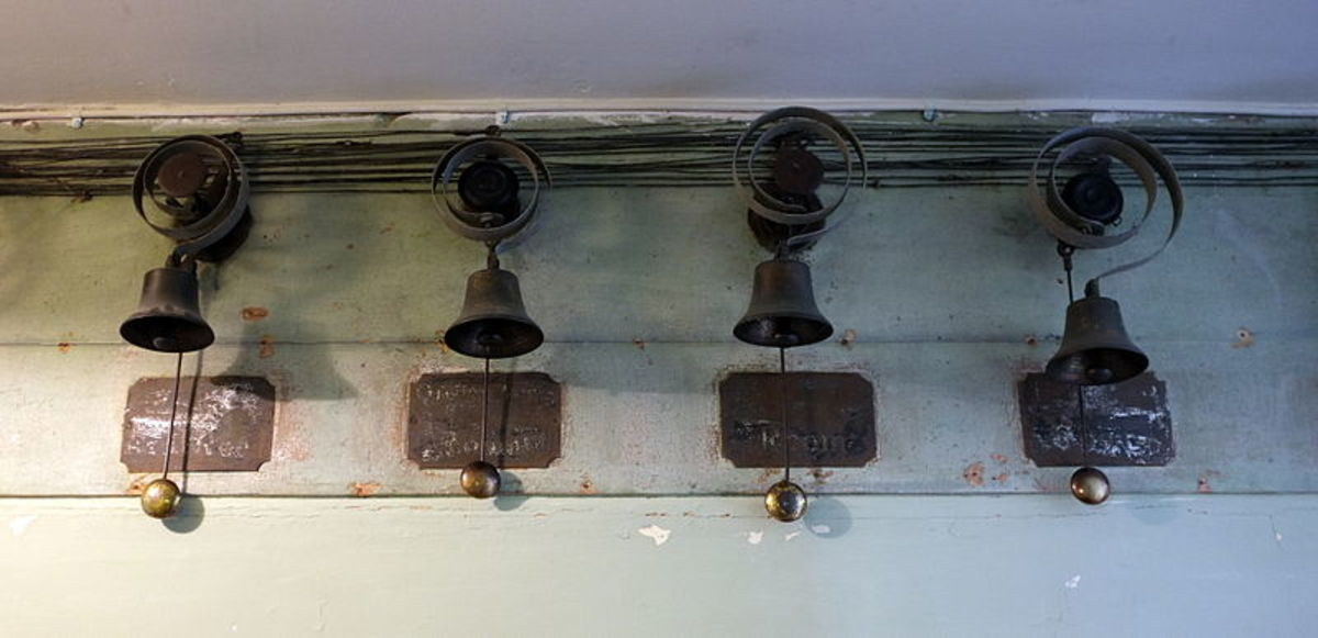 A series of bells and pulleys were through out the house so the correct servant could be called to the correct room as needed.