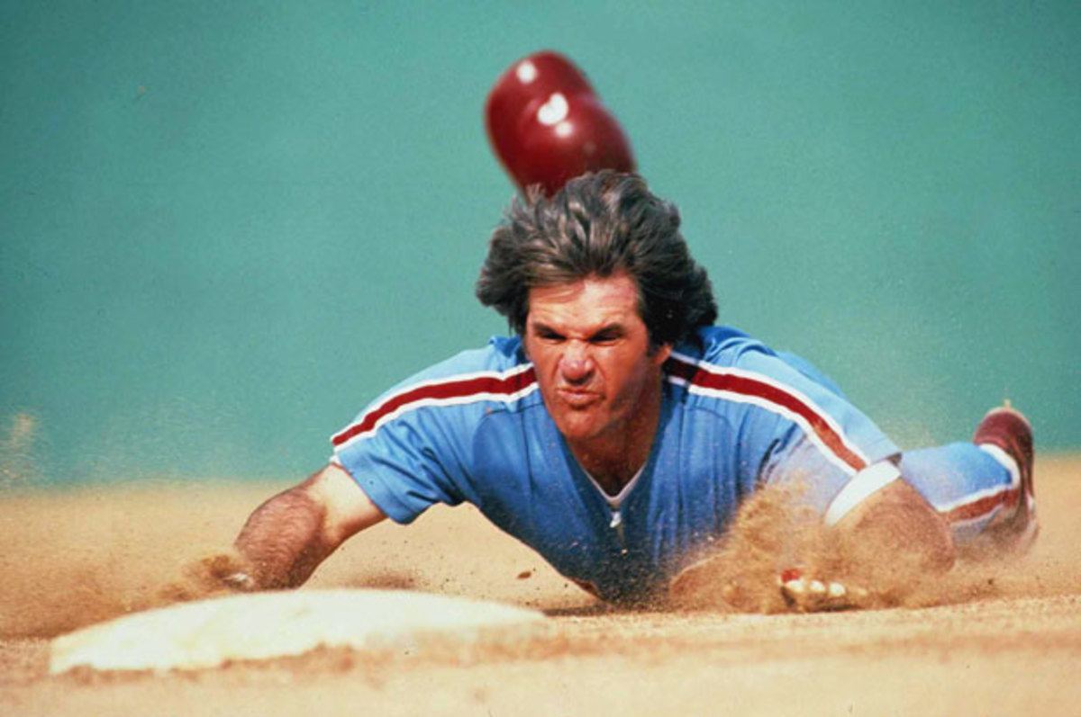 Pete Rose with the Phillies in 1979.