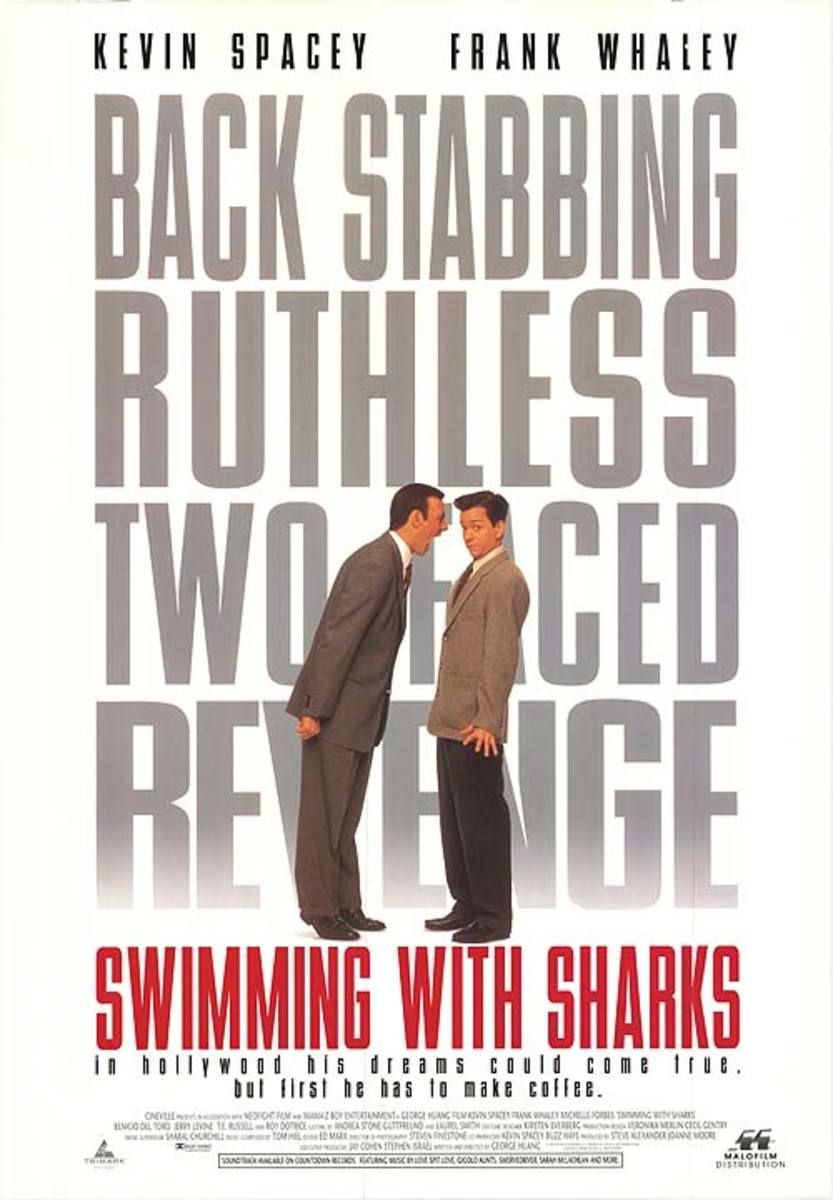 The poster for the film easily demonstrates the abusive relationship between Buddy (Kevin Spacey) and Guy (Frank Whaley.)