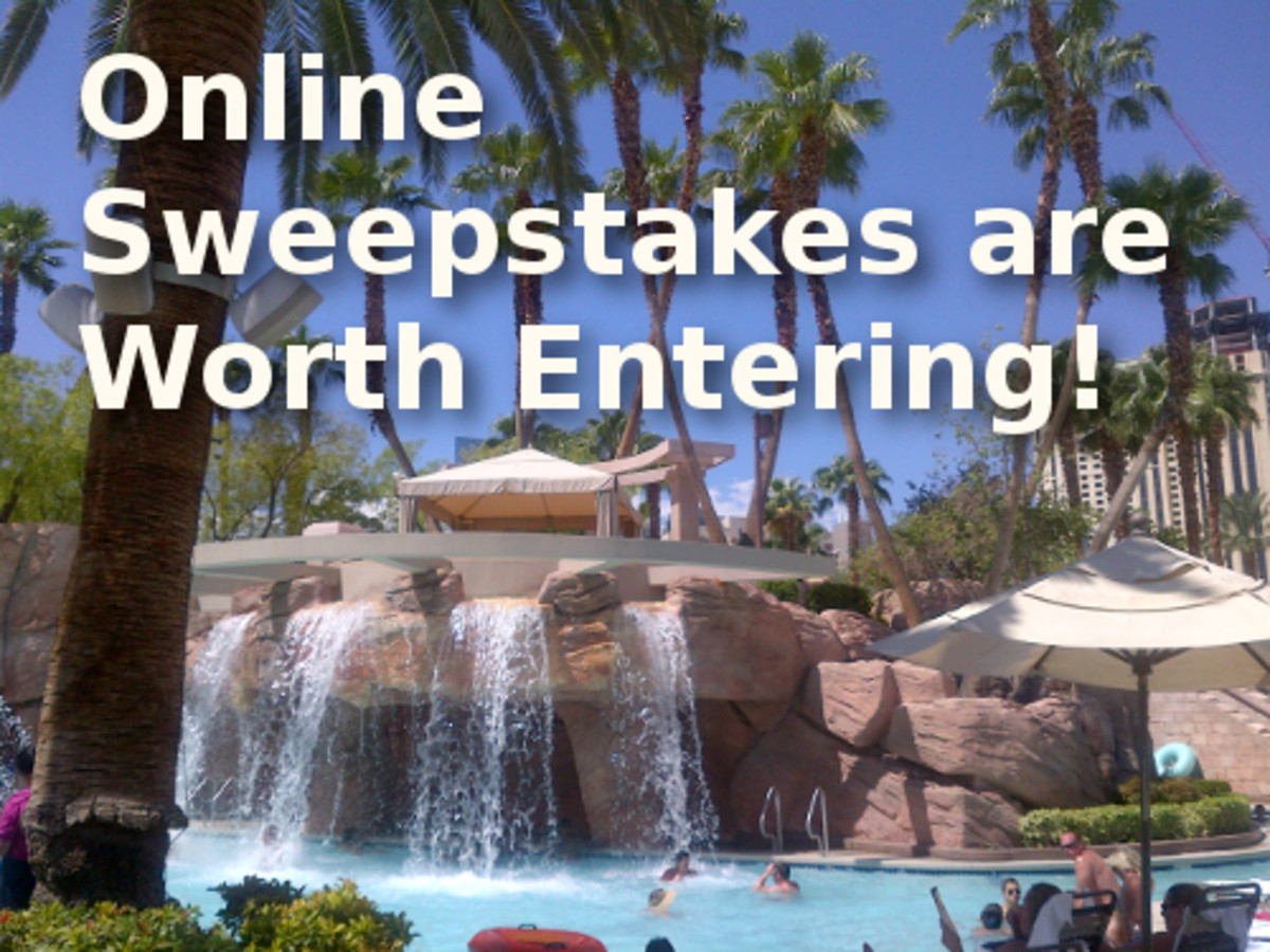 Online sweepstakes are worth entering. Take it from me—I've entered a lot and won a lot!
