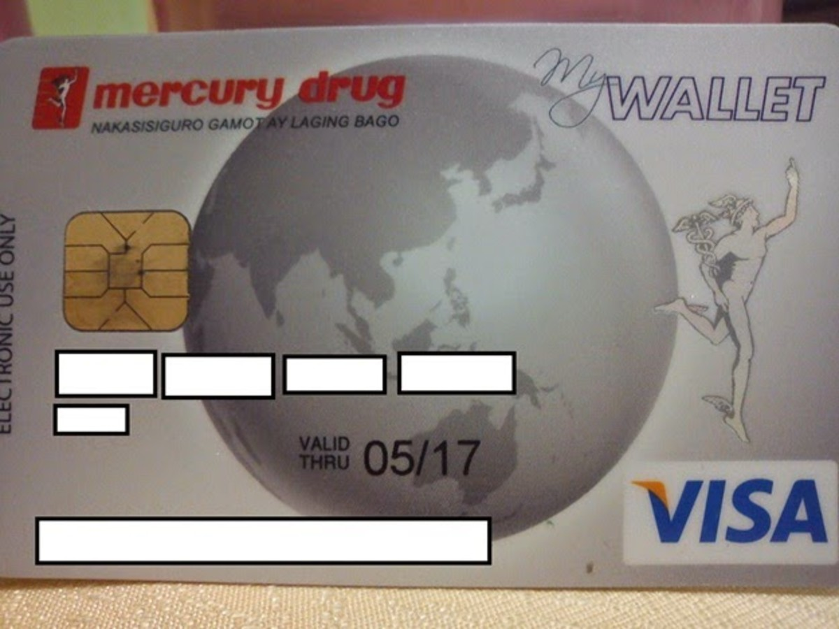 Photo of my RCBC Mercury Drug MyWallet Visa card.