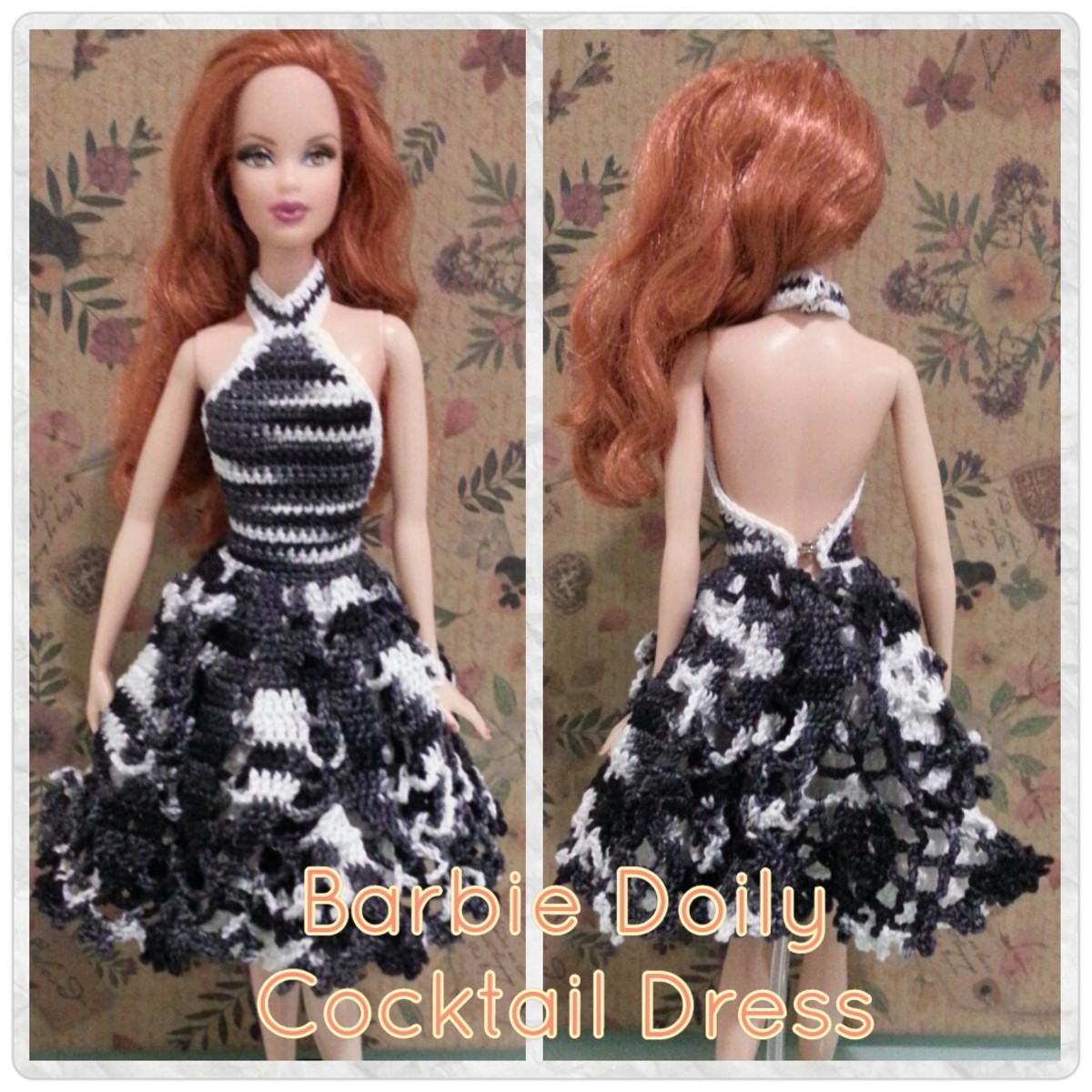 Barbie Doily Cocktail Dress Free Crochet Pattern Feltmagnet