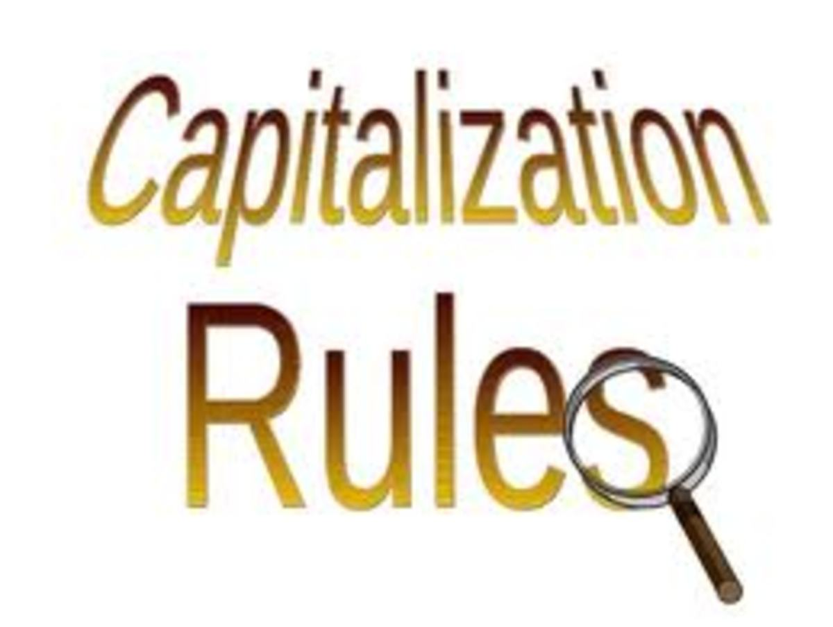 English Grammar: Capitalization Rules