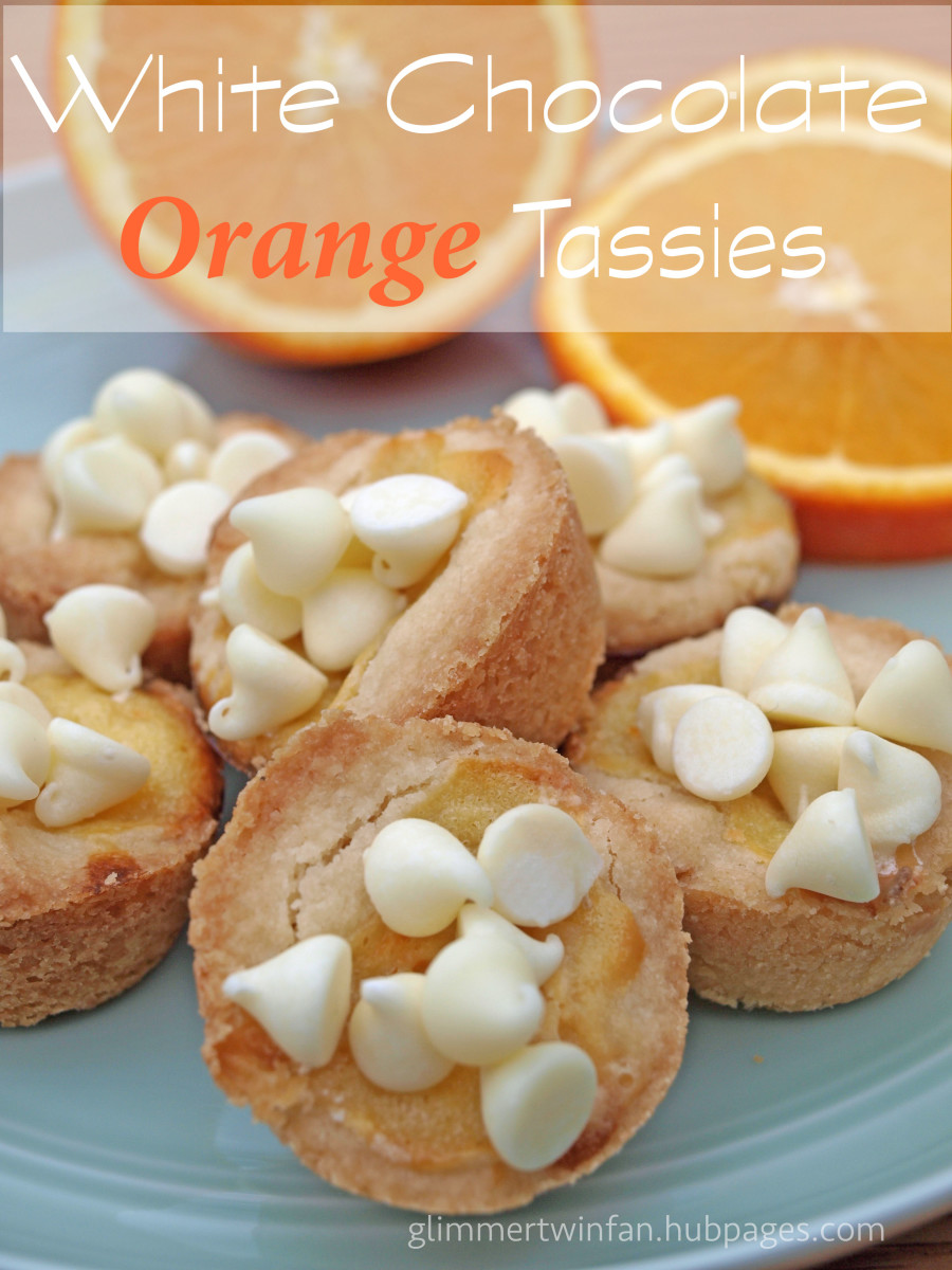 White chocolate orange tassies or cookie cups.  The perfect addition to any cookie tray or special occasion.