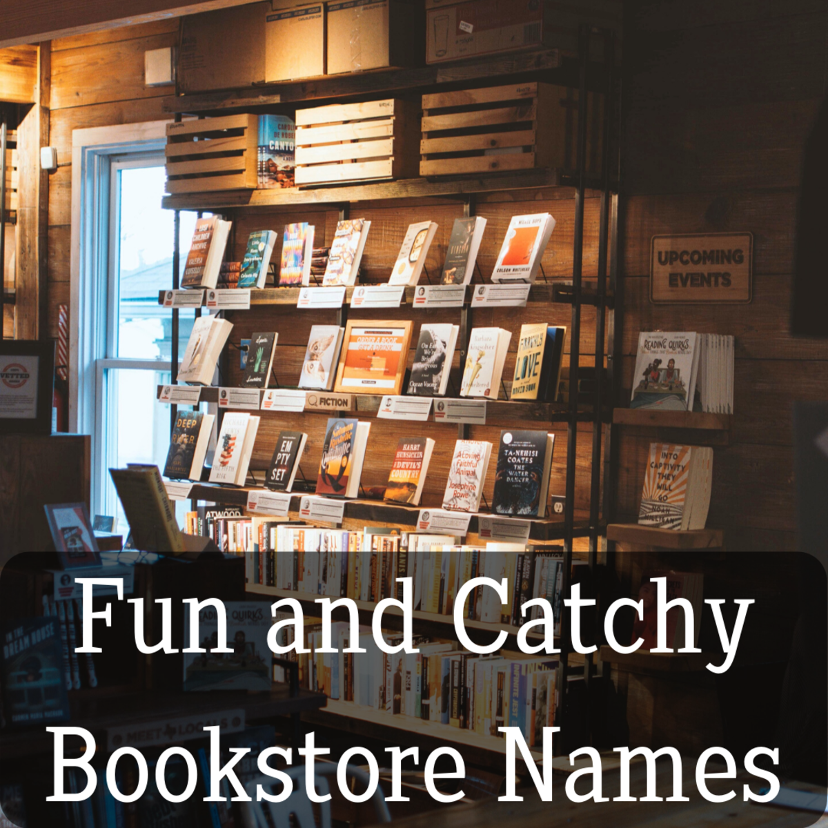 Having a cute and memorable name for your bookstore is a must!