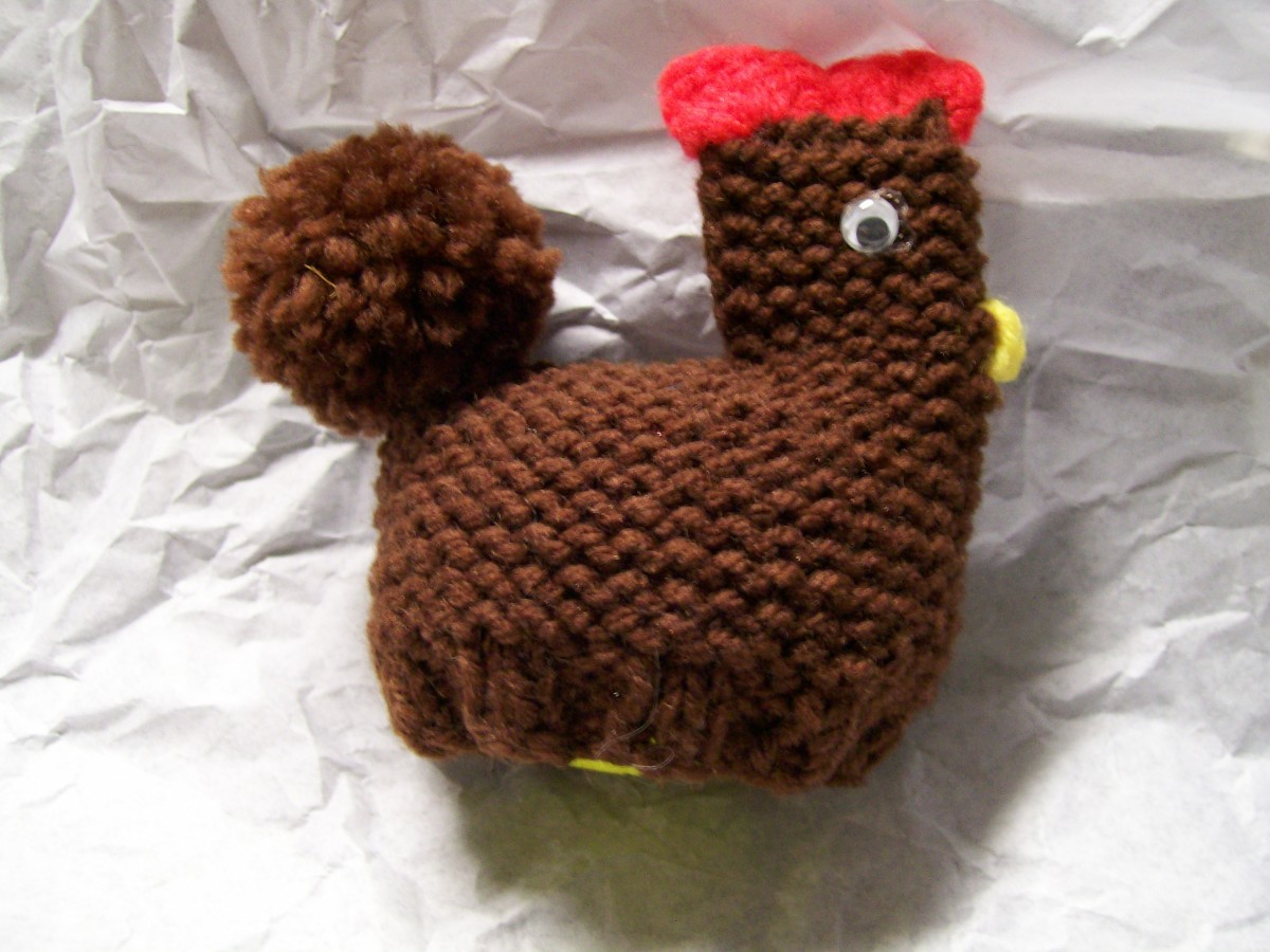 How to Knit a Little Chicken and Crochet a Tiny Bunny