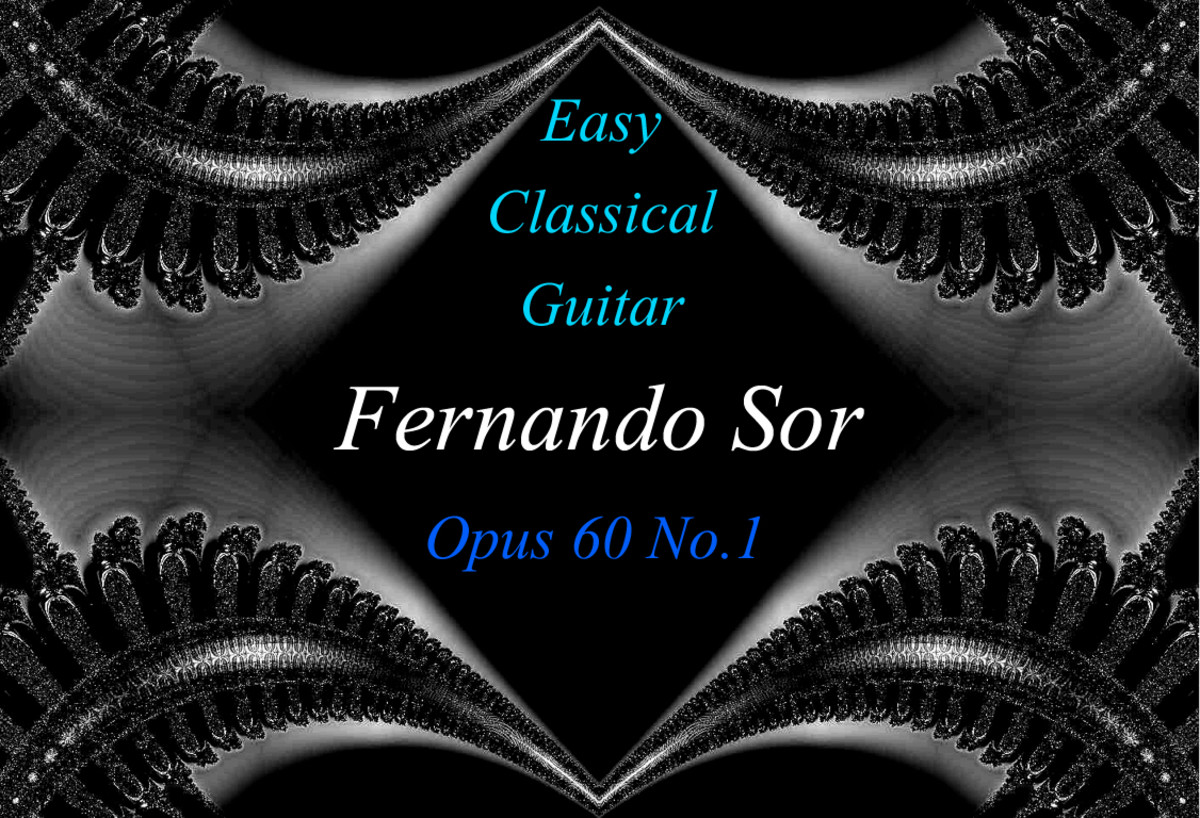 Fernando Sor: Opus 60 No.1: Easy Classical Guitar Music in Standard Notation, Tab and Audio