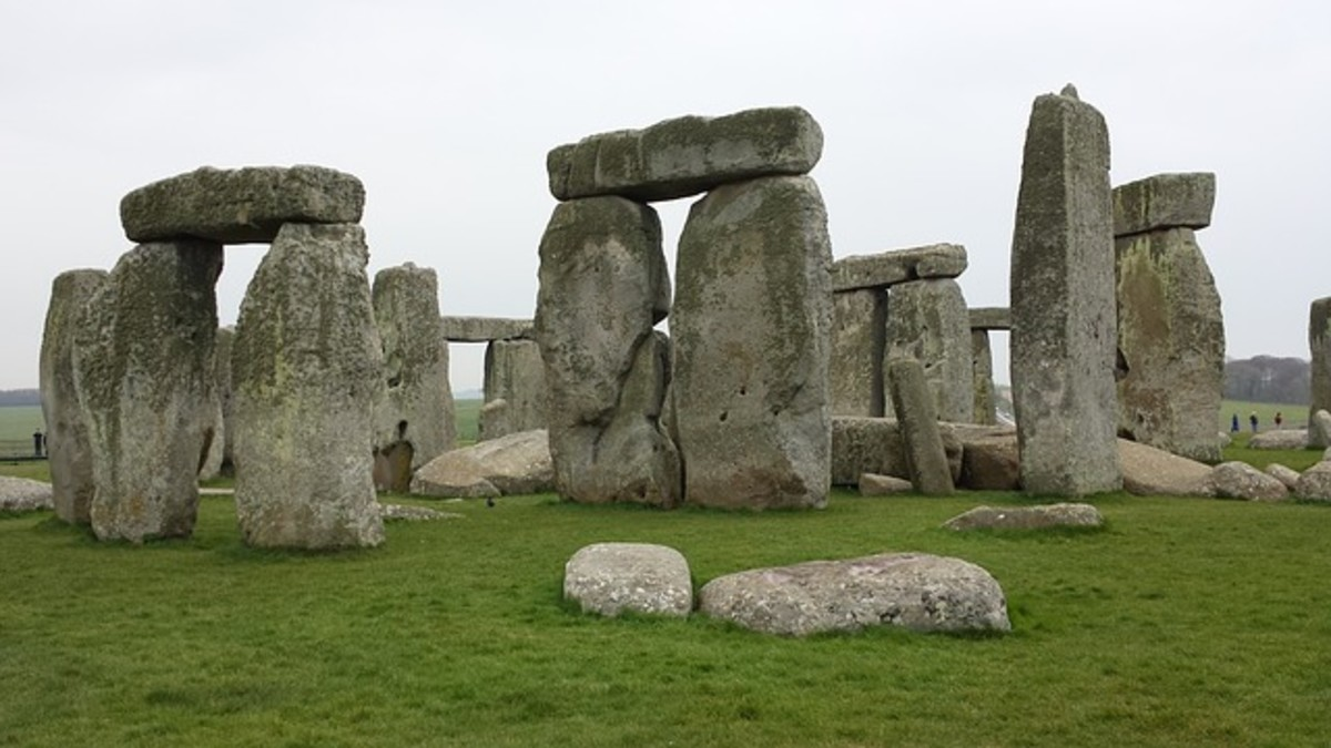 Stonehenge is one of the most recognizable and famous prehistoric monuments in the world.  It consists of a ring of standing stones.  The purpose of the monument is a subject of hot debate amongst archaeologists.