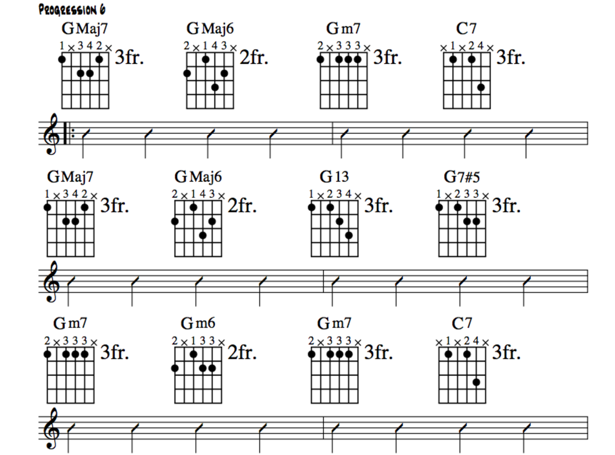 Jazz Guitar Lessons • Jazz Chord Substitution Part Two • Altered Chords, Theory, Charts, Videos.