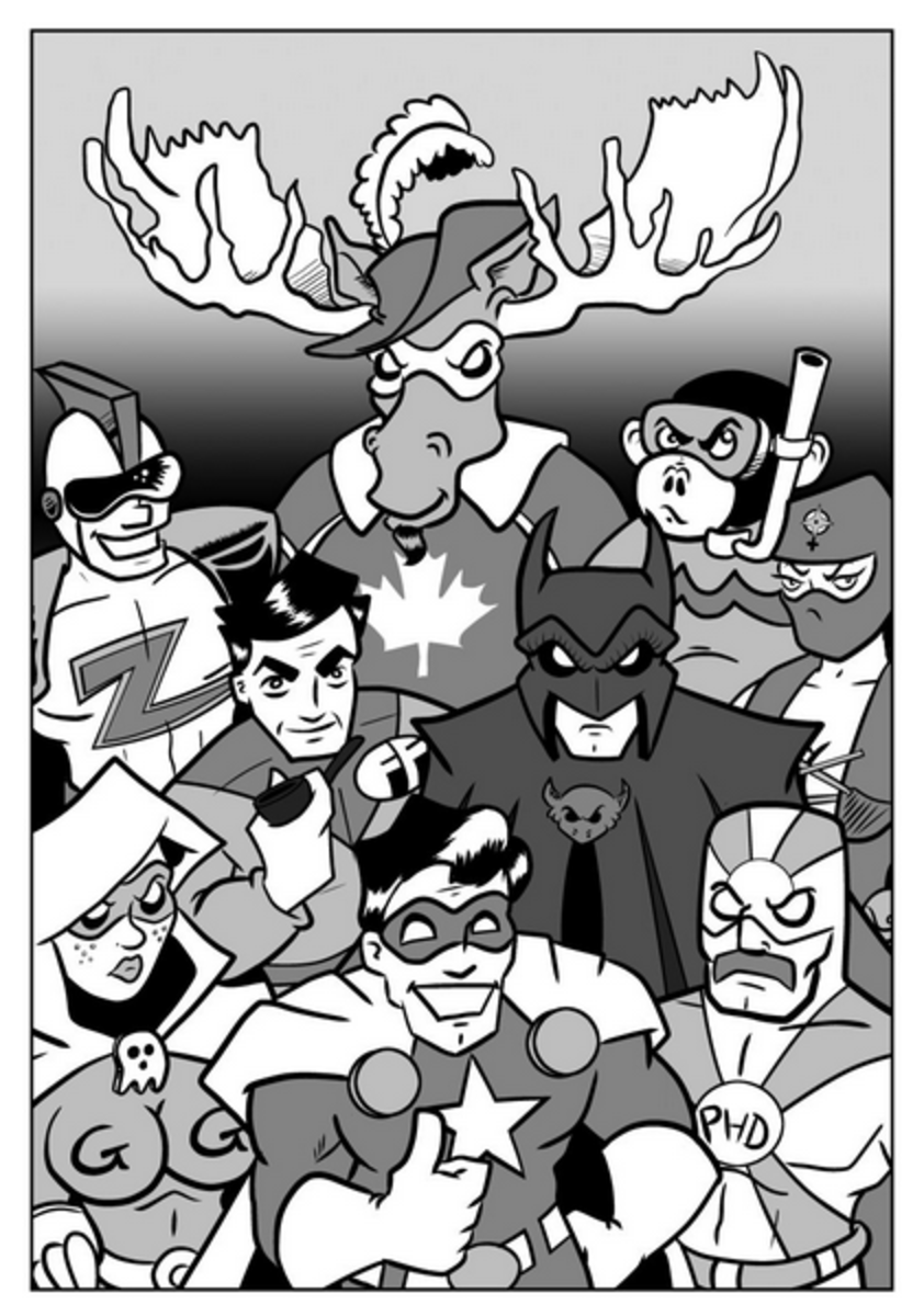 The Paradigm Nine, Paradigm City's most mostly adequate super-heroes!