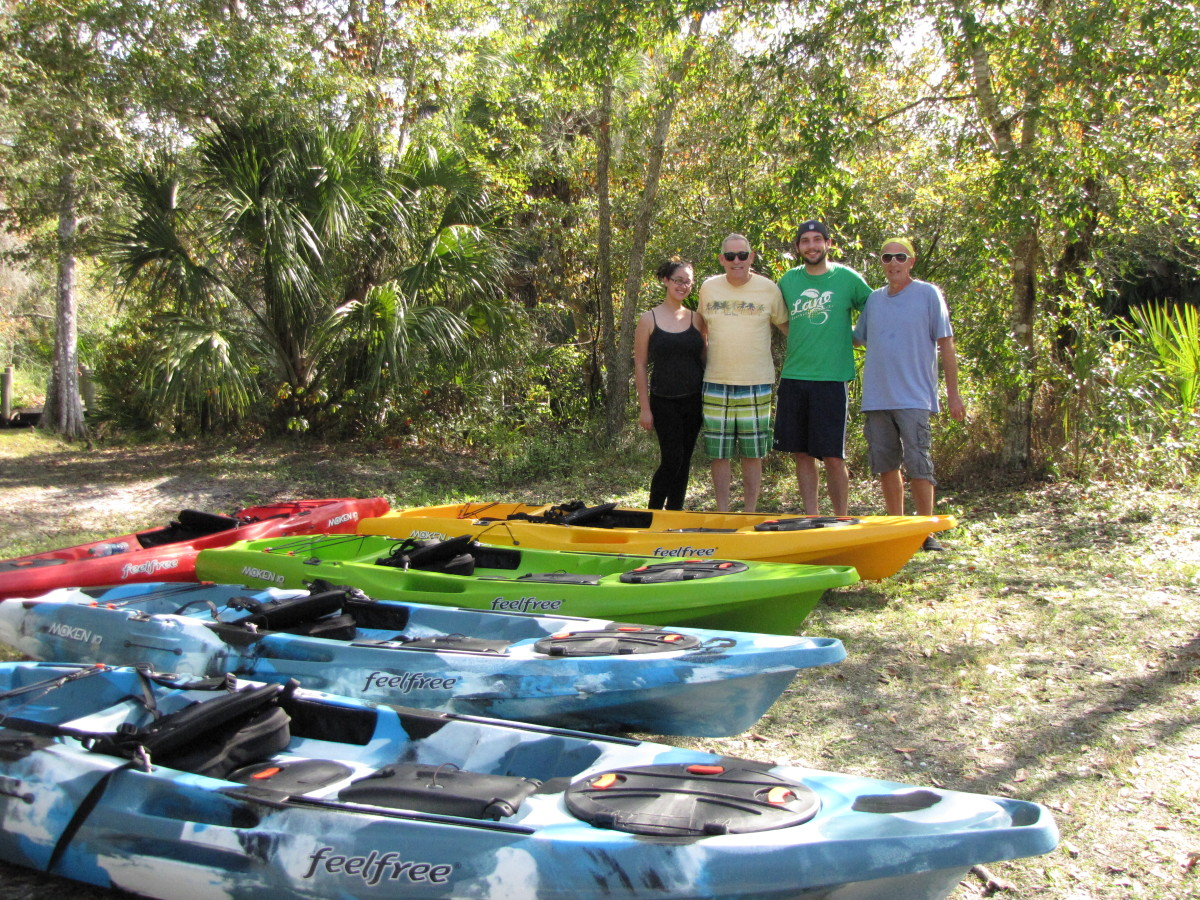 Kayaking the Cotee River in the James E. Grey Preserve - New Port Richey, Florida