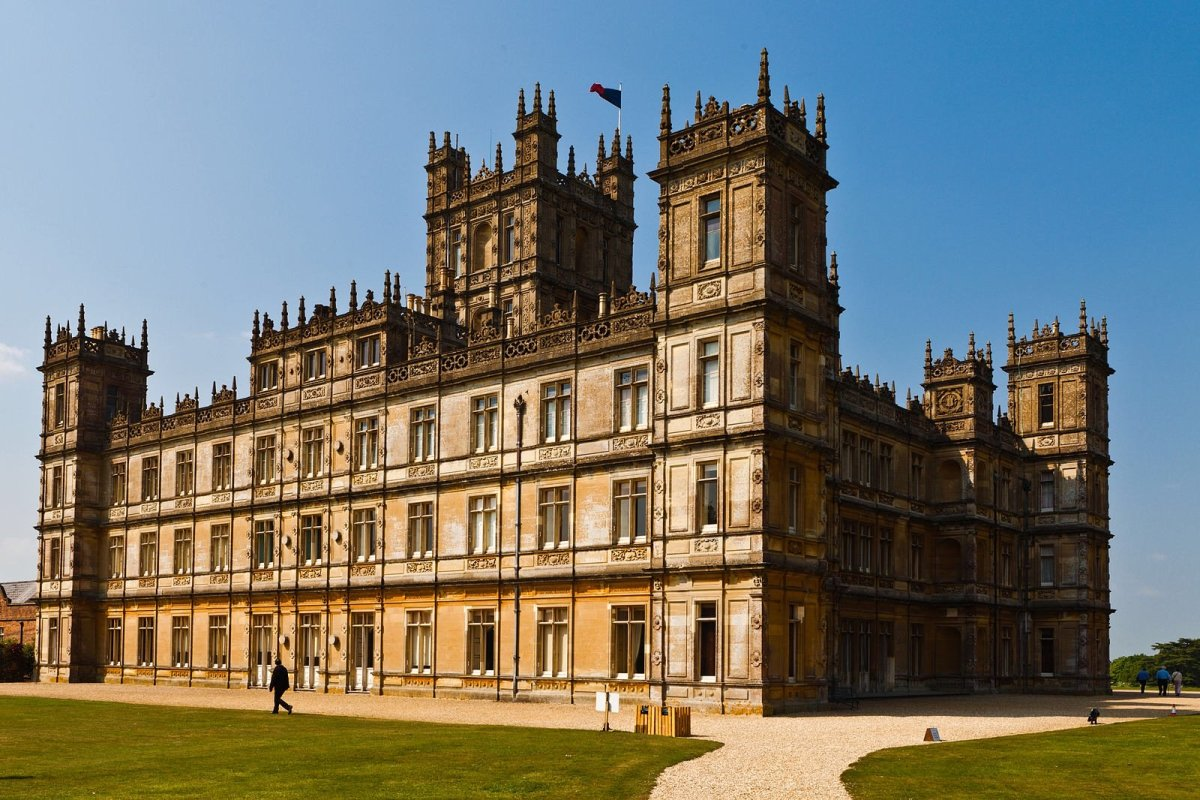 Highclere Castle, used for interior and exterior filming of Downton Abbey