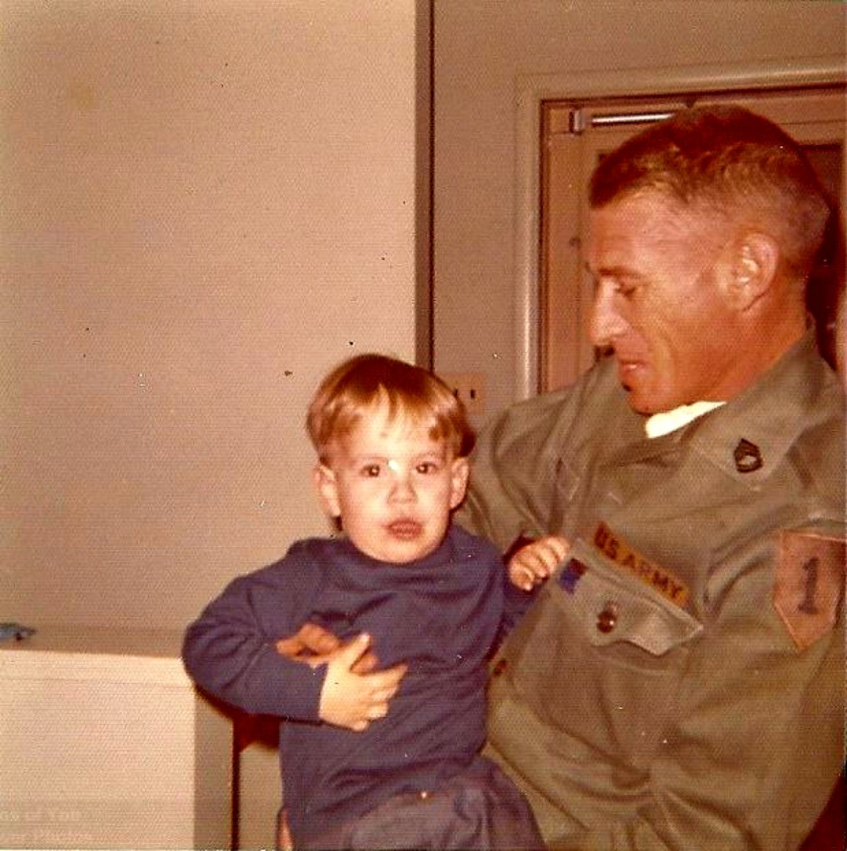 Shawn Reese with his active military father, Sgt William T. Reese