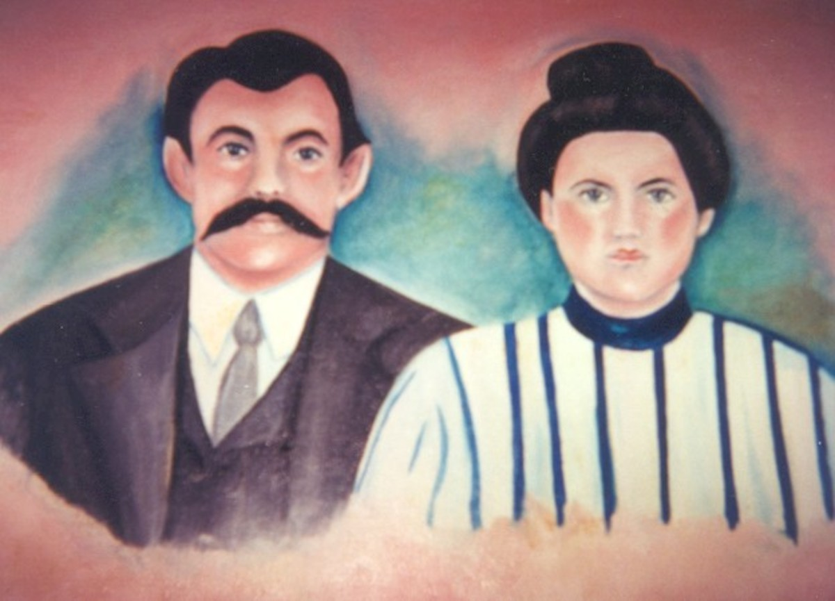 This is a portrait of my great grandparents circa 1873.