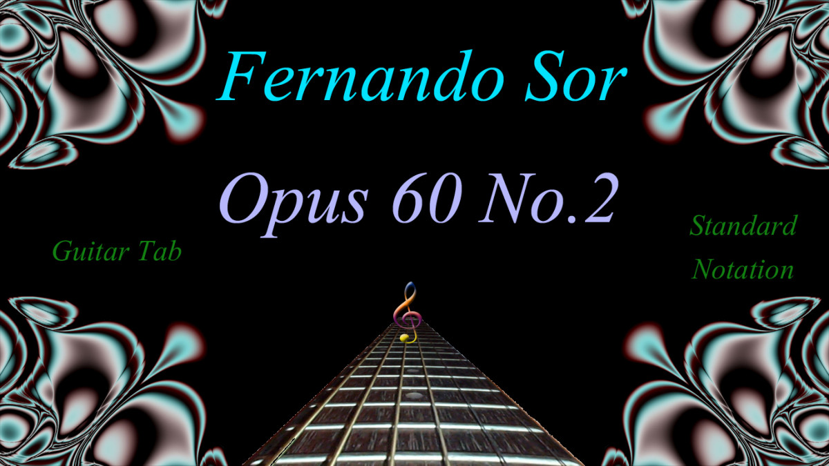 Easy Classical Guitar Tab and Notation: Fernando Sor - Opus 60 No.2, Study in C