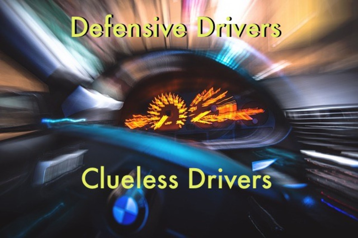 Sometimes defensive driving doesn't go well with clueless drivers.