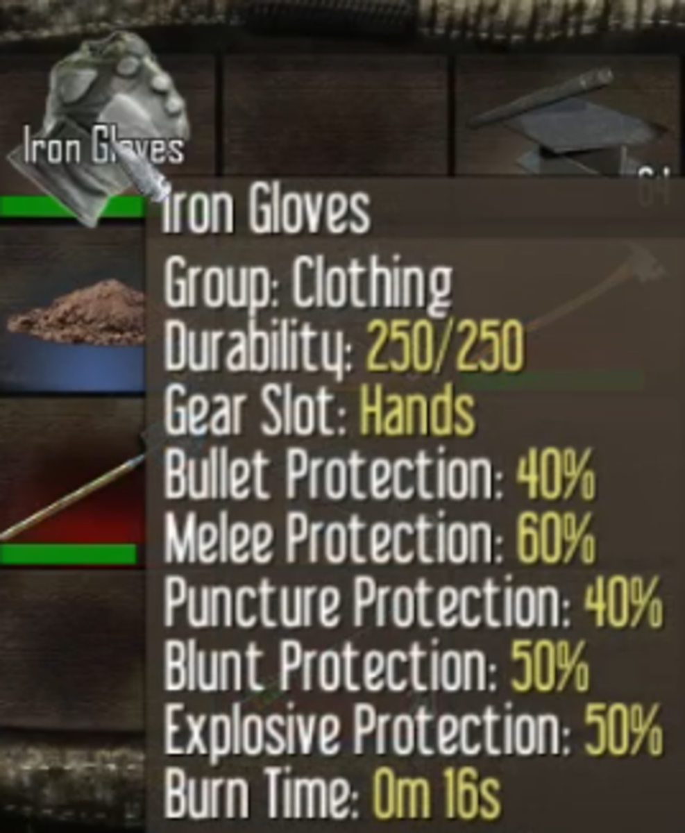 Iron Gloves can be crafted after learning the recipe from the Iron Gloves Schematic