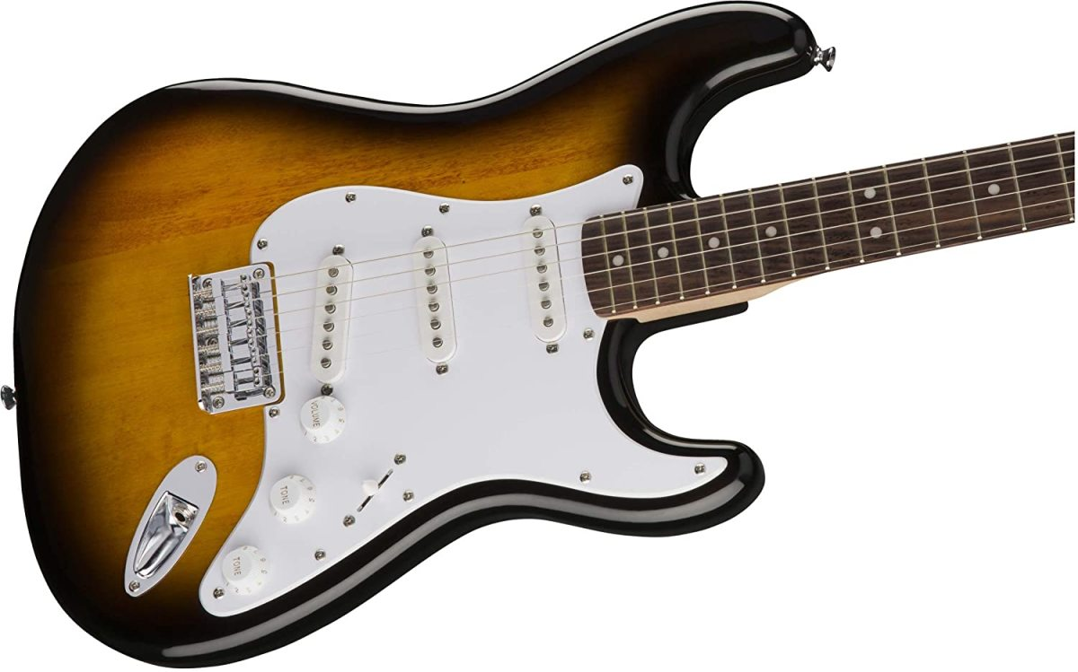 The Squier Bullet Stratocaster is one of the top guitars for beginners for under $200.