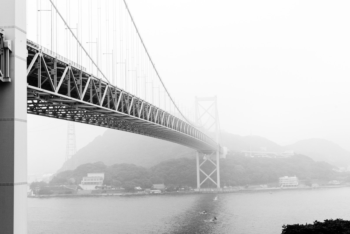 At 712m, the Kanmon bridge serves the purpose of connecting Japan's main islland Honshu, with its most southern island, Kyushu.