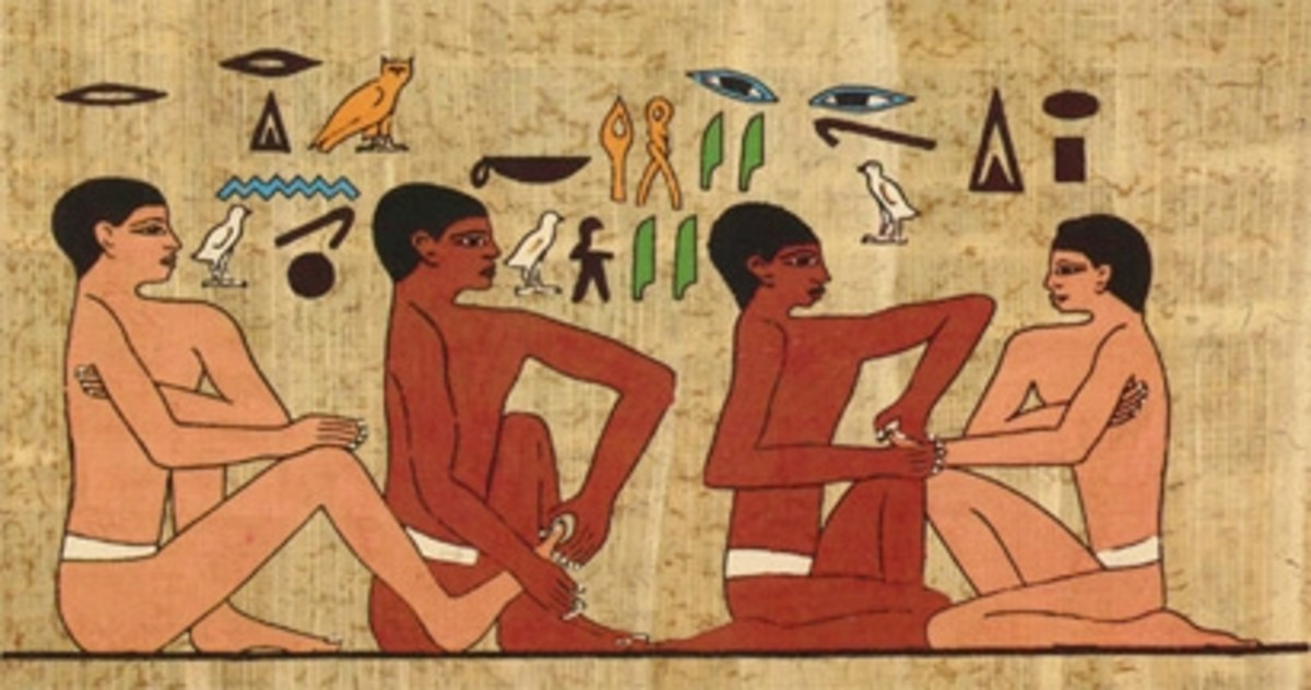 This wall painting dating to 2330 B.C. was found in a tomb known as the physicians tomb and it is believed that the people depicted are giving and receiving an early version of Reflexology!