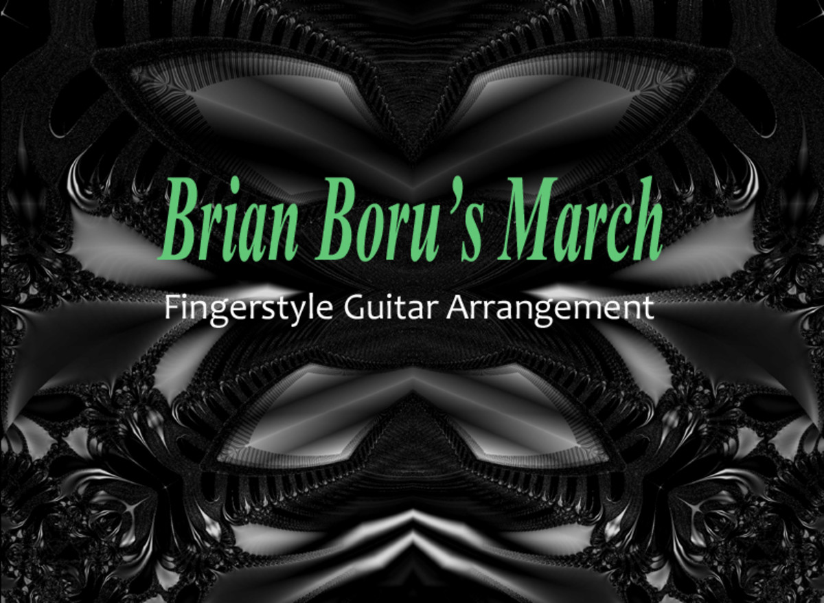 Brian Boru's March: Easy Fingerstyle Guitar Arrangement in Notation and Tab with Audio