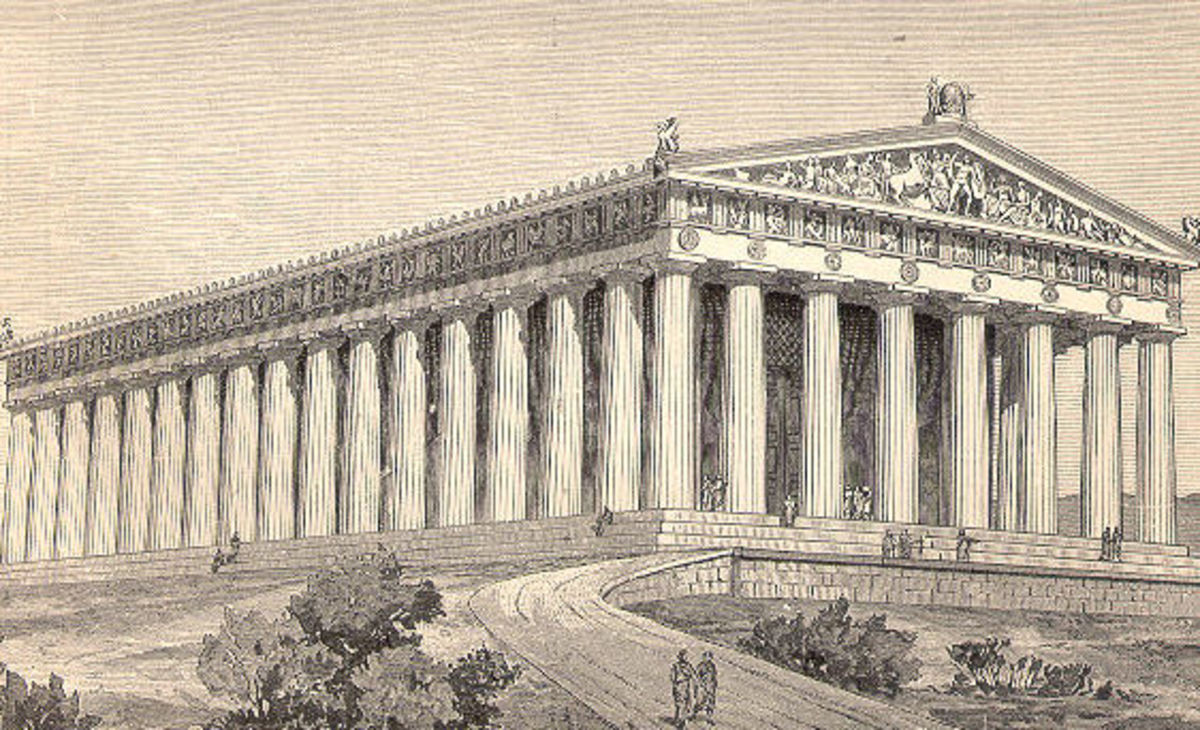 The Parthenon as it would have looked.