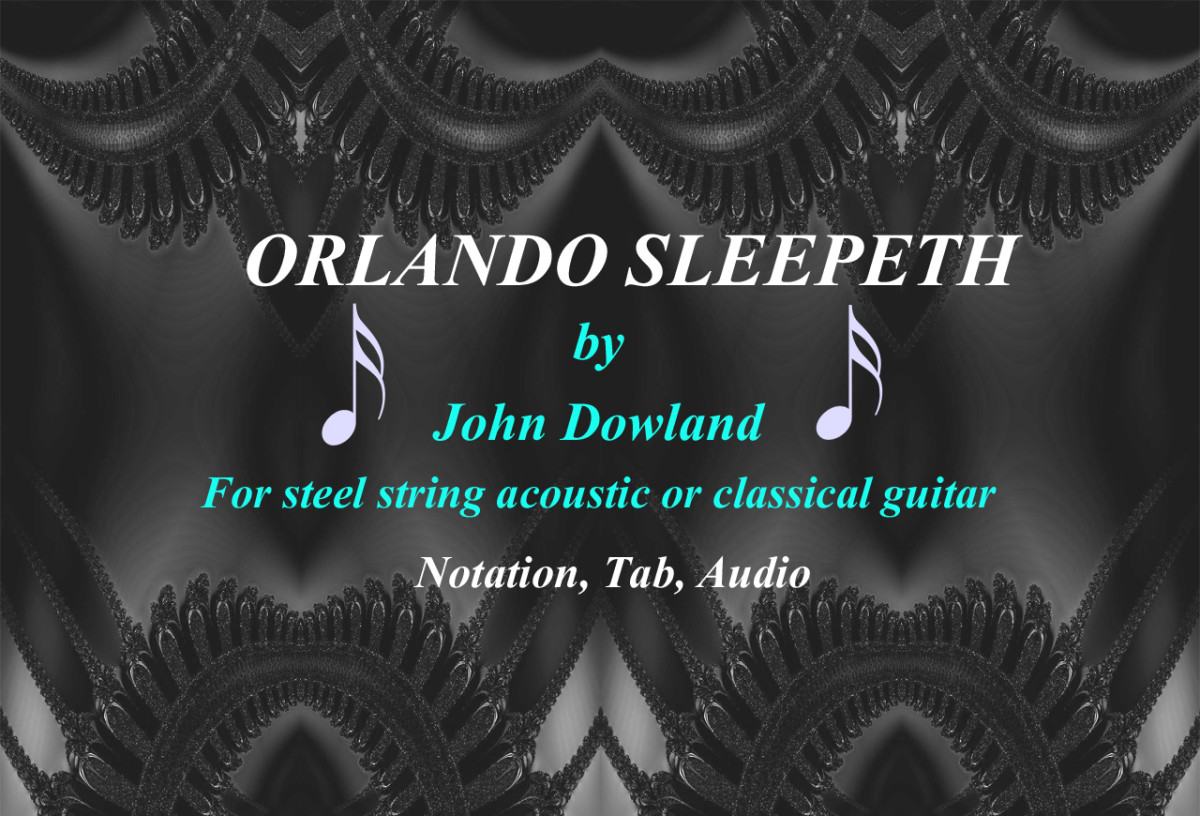 Orlando Sleepeth by John Dowland - Guitar Arrangement in Tablature and Standard Notation with Audio