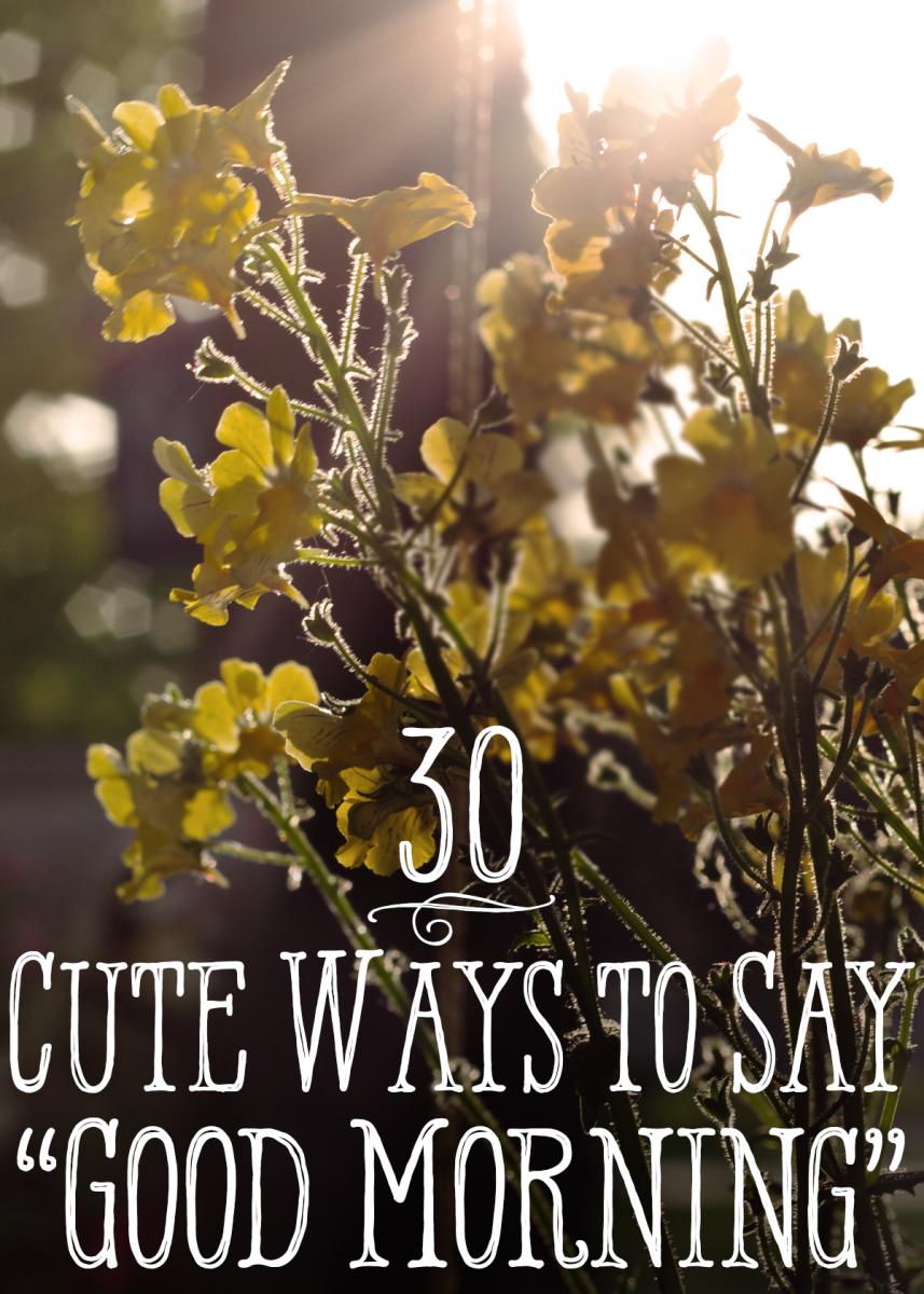 "30 cute ways to say ""good morning"""